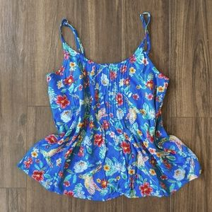 Old Navy Parrot Floral Tank Top Blouse Shirt